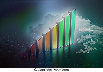 graphique, business