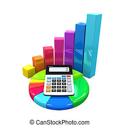 graphique, calculatrice, diagramme