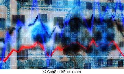 graphique, codes, argent, boucle, barre