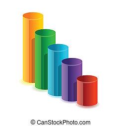 graphique, coloré, business, circulaire