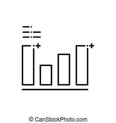 graphique, commercialisation, annonce, icônes