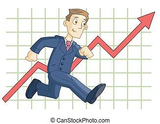 graphique, courant, fond, business, homme affaires