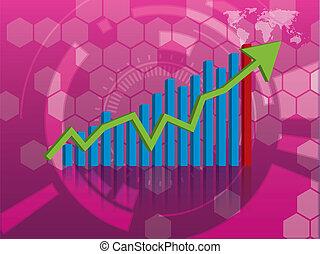 graphique, croissance, investissement