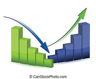 graphique, diagramme, diagramme, business