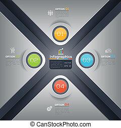 graphique, disposition, business, moderne, forme, conception, infographics, x