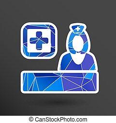 graphique, docteur, illustration médicale, vecteur, closeup, conception, icône