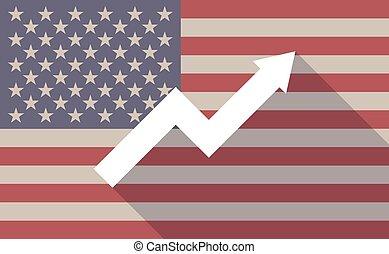 graphique, drapeau, usa, icône
