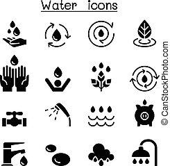 graphique, ensemble, illustration, eau, vecteur, conception, icône