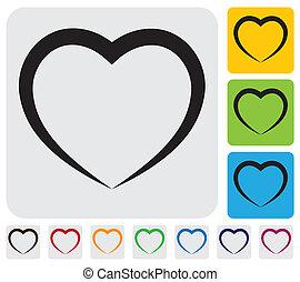 graphique, icon(symbol)-, simple, résumé, vecteur, humain, heart(love)
