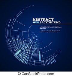 graphique, illustration, vecteur, utilisateur, interface., futuriste