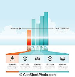 graphique, infographic, barre, éléments