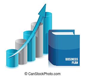 graphique, livre, diagramme, business