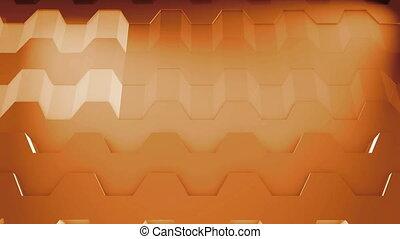 graphique, mouvement, fond, hexagonal, boucle, 3d