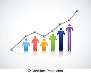 graphique, réussi, gens, diversité