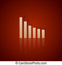 graphique, rouges