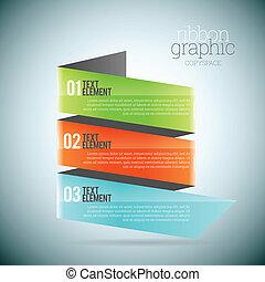 graphique, ruban, copyspace