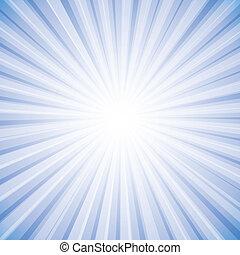 graphique, soleil, ciel, rayons, clair, vecteur, fond, blanc