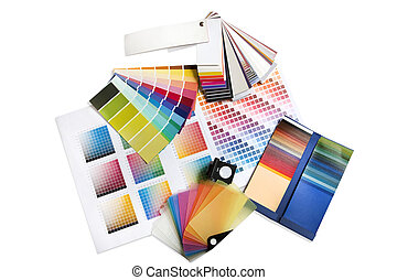 graphique, swatches, couleur, concepteur, intérieur, ou