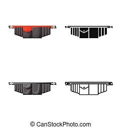 graphique, symbole., toolbag, isolé, ceinture outil, stock., vecteur, icône, objet