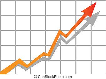 graphique, vecteur, business