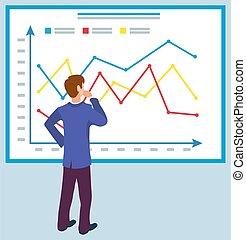 graphiques, education, diagrammes, business, planche