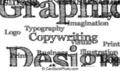 graphisme, mots, fond