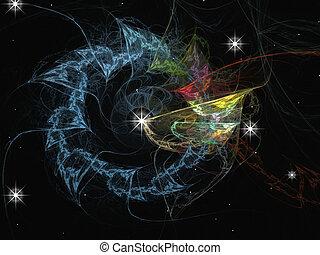 graphisme, système, solaire