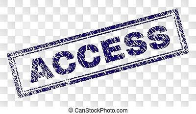 gratté, accès, rectangle, timbre