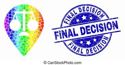 gratté, carte, justice, décision, timbre, clair, vecteur, pixelated, marqueur, final, icône