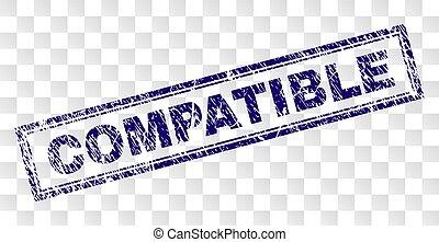 gratté, compatible, rectangle, timbre