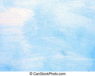 gratté, mur bleu, vieux, texture