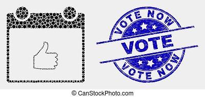gratté, pouce, pointillé, timbre, haut, vecteur, cachet, vote, calendrier, maintenant, icône page