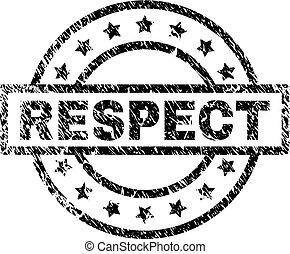 gratté, respect, textured, timbre, cachet