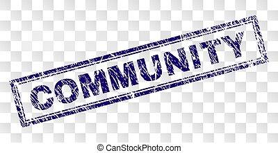 gratté, timbre, communauté, rectangle
