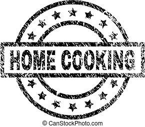 gratté, timbre, cuisine, textured, maison, cachet