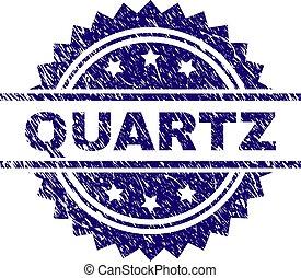gratté, timbre, quartz, textured, cachet