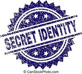 gratté, timbre, textured, top secret, cachet, identité