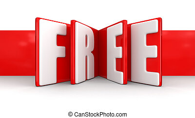 gratuite, étiquette