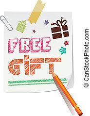gratuite, cadeau