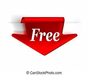 gratuite, flèche rouge