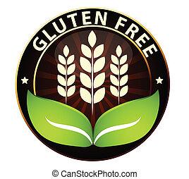 gratuite, nourriture, icône, gluten