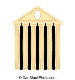 grec, ancien, columns., vecteur, architecture, temple., illustration.