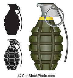 grenade à main, croquis