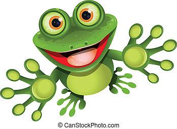 grenouille, heureux