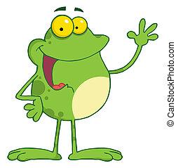 grenouille, onduler