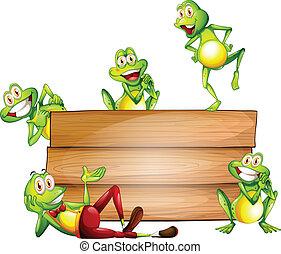 grenouilles, signe