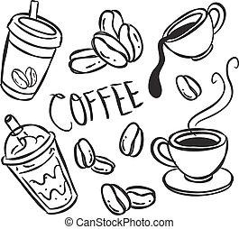 griffonnage, café