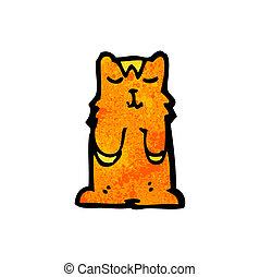 griffonnage, dessin animé, chat