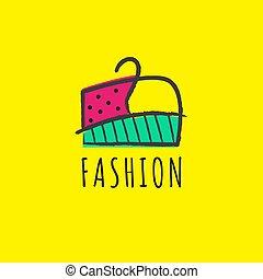 griffonnage, mode, icône