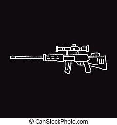 griffonnage, tireur embusqué, fusil
